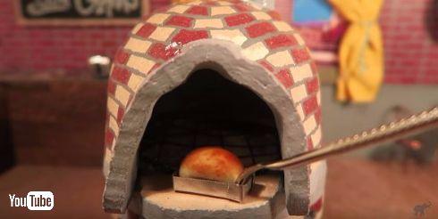 超ミニサイズのパンが完成