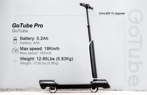 わずか約5.8kgのポータブル電動キックボードが商品化