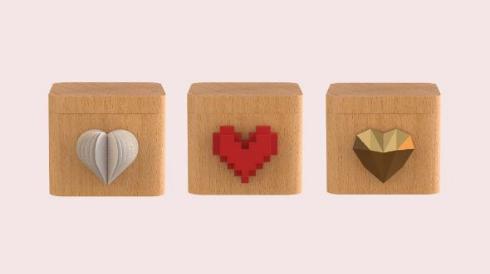 LoveBox リア充 ガジェット フランス ハート 回転 メッセージ
