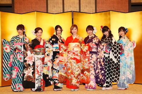 SKE48で2017年成人を迎えた青木詩織さん、東李苑さん、石田安奈さん、鎌田菜月さん、二村春香さん、古畑奈和さん、松井珠理奈さん