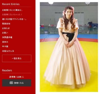 吉田沙保里ドレス姿
