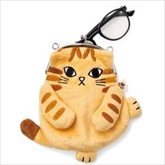 猫がま口ポーチ
