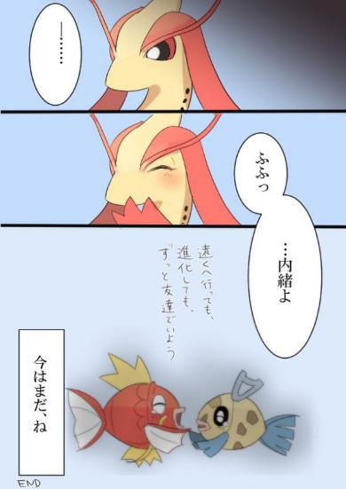ポケモン 漫画 ミロカロス ギャラドス コイキング ヒンバス 泣ける