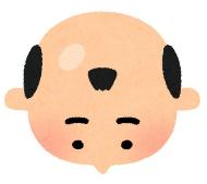 いらすとや いろいろな形 薄毛 イラスト 禿頭 ハゲ