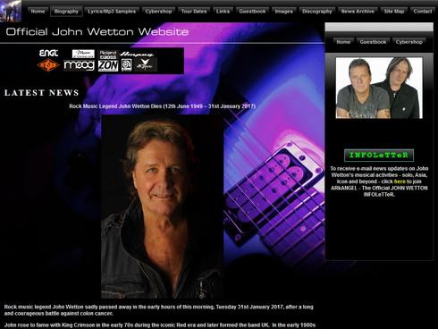 エイジア、キング・クリムゾンの下ベース・ボーカルジョン・ウェットンが1月31日癌で死去