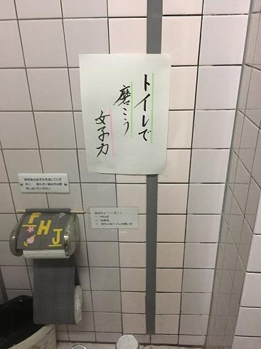 トイレで磨こう女子力