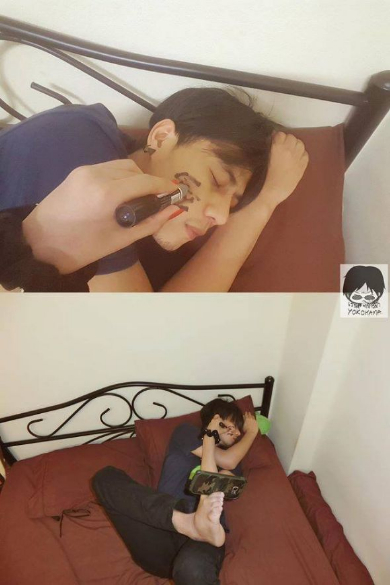 バレンタインデー 男 1人 写真 カップル タイ Facebook