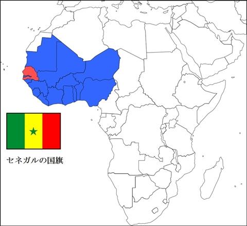 セネガルの位置
