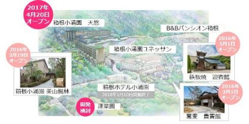 藤田観光 箱根ホテル小涌園 営業終了 再開発