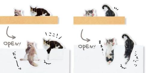 ノートで遊ぶ 猫ふせん パート2 フェリシモ猫部