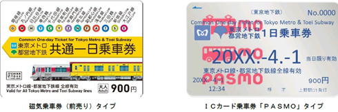 東京メトロの1日乗車券がPASMOで...