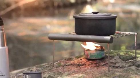 ツナ缶 料理 お米 炊く サバイバル 火