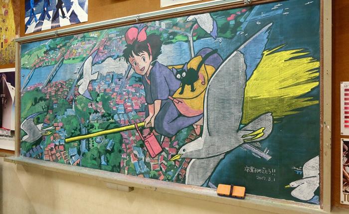 魔女の宅急便黒板アート