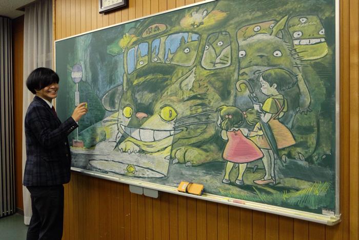 となりのトトロ黒板アート