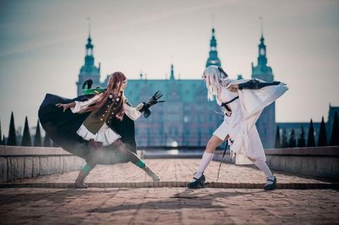 デンマークのコスプレイヤー、スリーネさんとカリーナさん