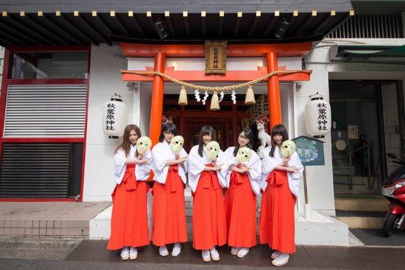 仮面女子が秋葉原神社の公認巫女に就任