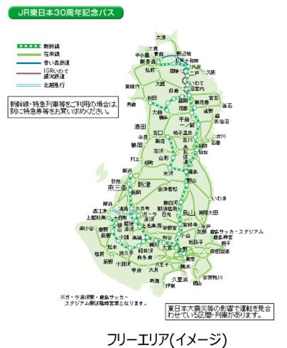JR東日本 30周年 記念パス