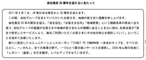 JR東日本 30周年 入場券