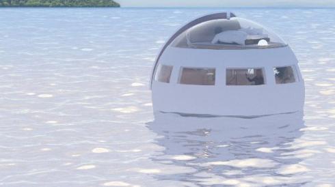ハウステンボス 水上球体ホテル 海 浮く 開発