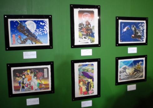 松本零士さんのSF世界を描いた浮世絵がお披露目