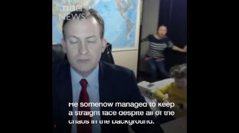 BBC ニュース 生放送 子供 乱入 インタビュー