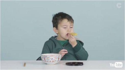 アメリカ人の子どもに和食食べさせてみた