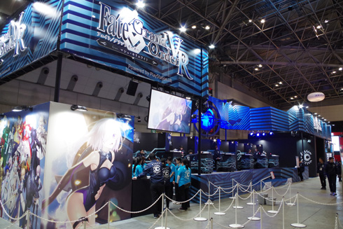 近未来感が漂っていた「Fate/Grand Order」ブース