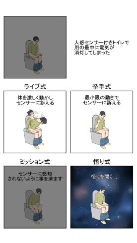トイレ 人感センサー 照明 消灯