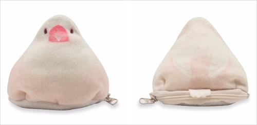 おもち文鳥のふかふかミニポーチ