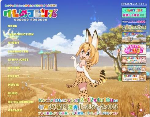 ニコニコ アニメ総選挙 2017 冬アニメ 春アニメ けものフレンズ