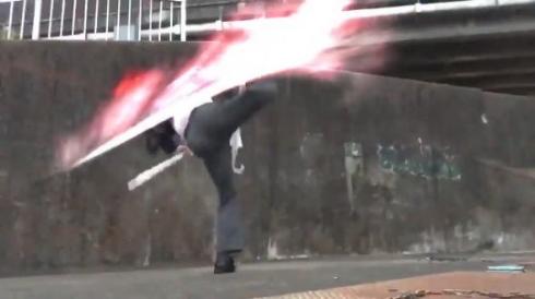 傘 アクション カサムライ サラリーマン 動画 エフェクト