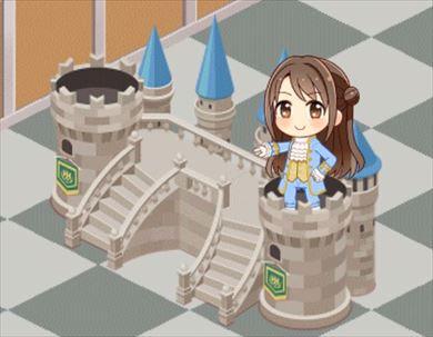 お城の舞台セット