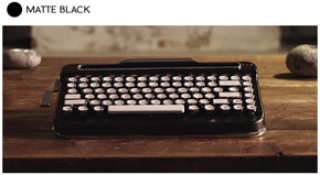 カチャカチャ打てるタイプライター風キーボード「PENNA」登場 キーマクロ登録が可能なリターンバー付き