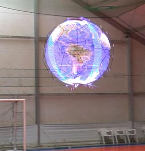 NTT 浮遊球体ドローンディスプレイ ニコニコ超会議