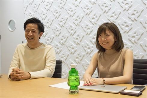 AbemaTV 左から水谷誠也さん、椛嶋麻菜美さん