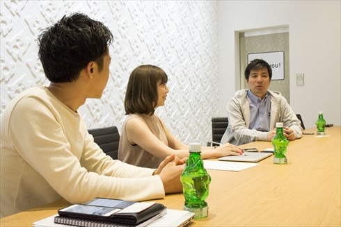 AbemaTV 左から水谷誠也さん、椛嶋麻菜美さん、藤田晋社長