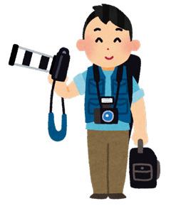 男性カメラマンのイラスト