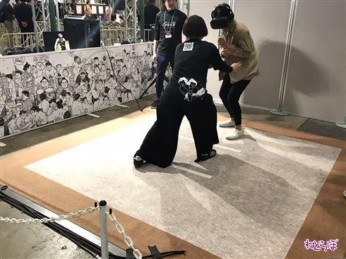大相撲VRに白鵬&琴奨菊 ガチのツッパリ飛んでくる横綱級のリアル
