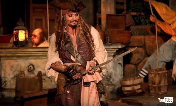 ディズニーランド「カリブの海賊」にあらわれたジョニー・デップ
