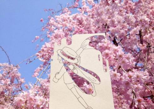 スプラトゥーン ファンアート 切り絵 四季 春夏秋冬