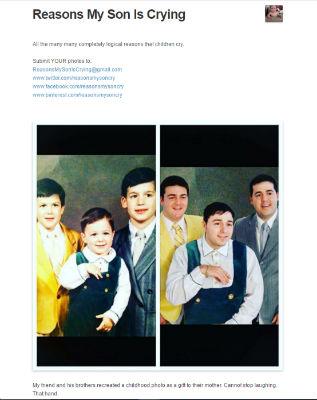 子どものころの写真を再現
