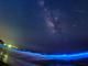 【動画】青く光る海に流れる星 夜光虫とみずがめ座η(エータ)流星群のコラボが幻想的