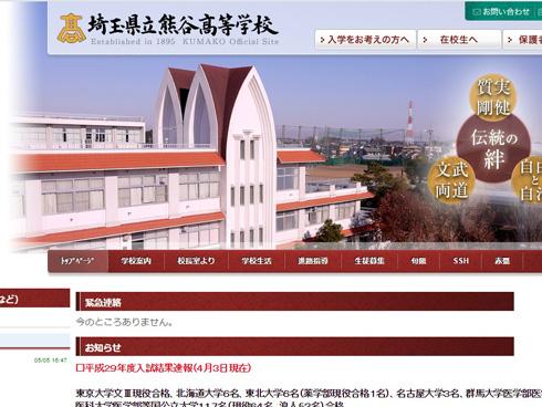熊谷高校の校舎
