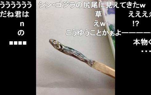 割り箸に色を塗ったところ