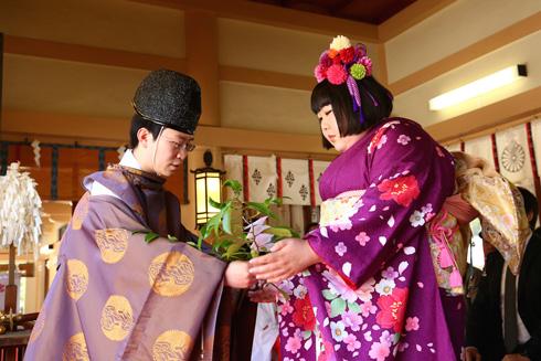 生國魂神社で行われた吉本新喜劇座長酒井藍就任奉告祭