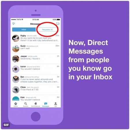 TwitterのDMが仕様変更 誰からでも受け取れる設定の場合、フォロー外からのメッセージは「リクエスト」ボックスへ
