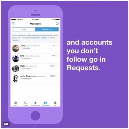 TwitterのDMが仕様変更 誰からでも受け取れる設定の場合、フォロー外からのメッセージは「リクエストボックス」へ