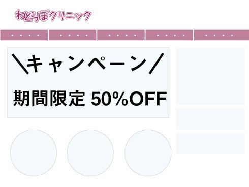 キャンペーン中のサイトイメージ