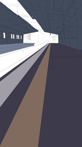 リアル過ぎる駅ホームのアニメーション