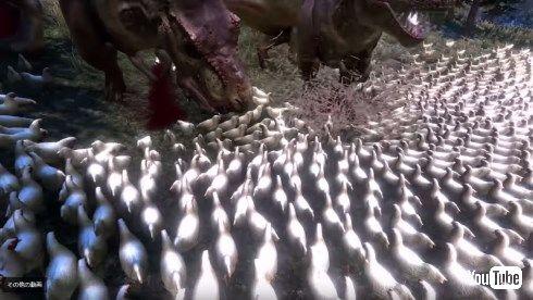 Ultimate Epic Battle Simulator ニワトリ Tレックス ティラノサウルス 1万羽